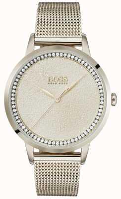 Boss | pulsera de malla dorada rosa pálido | 1502464