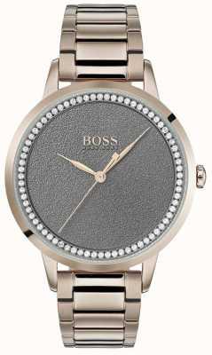 BOSS El | reloj crepuscular para mujer | acero inoxidable | esfera gris | 1502463