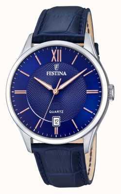 Festina | acero inoxidable para hombre | esfera azul / rosa | blueleather | F20426/5