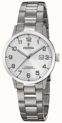 Festina | reloj de titanio para mujer | esfera plateada | pulsera de titanio | F20436/1