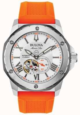 Bulova El | hombres | estrella marina | automático | correa de caucho naranja | 98A226