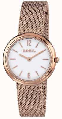 Breil | Correa de malla de oro rosa para damas | TW1778