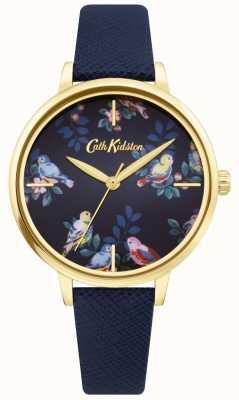 Cath Kidston | correa de cuero azul | esfera floral azul | CKL069UG