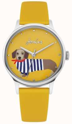 Joules | correa de caucho amarillo damas | esfera de impresión perro salchicha | JSL010Y