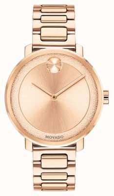Movado Negrita reloj chapado en oro rosa | 3600503