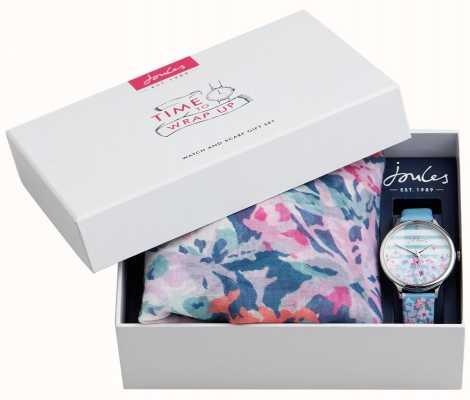 Joules | Reloj de mujer y set de regalo bufanda | JSL015USSET