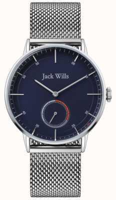 Jack Wills | mens batson ii | pulsera de malla de acero | esfera azul | JW002BLMH