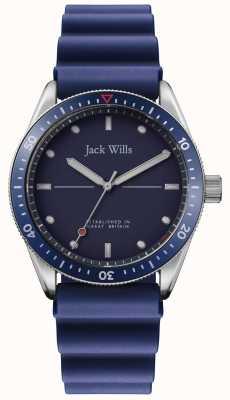 Jack Wills | Bahía del molino de los hombres | correa de goma azul | esfera azul | JW015RBBL