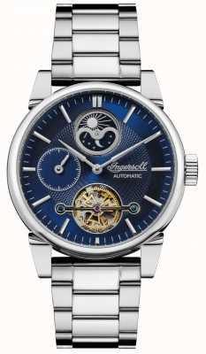 Ingersoll | mens el columpio | pulsera de acero inoxidable | esfera azul | I07501