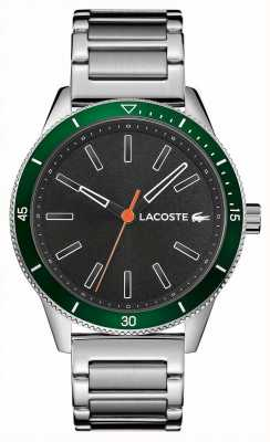 Lacoste | mens key west | pulsera de acero inoxidable | esfera gris | 2011009
