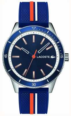 Lacoste El | hombres key west | correa de silicona azul | esfera azul | 2011007