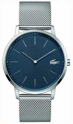 Lacoste | luna de los hombres | pulsera de malla de acero | esfera azul | 2011005