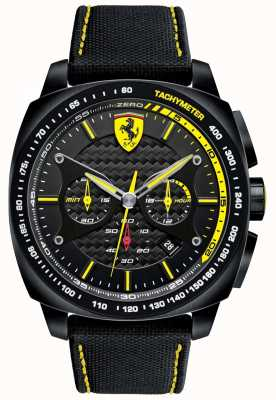 Scuderia Ferrari | mens aero evo | correa de material negro | esfera negra | 0830615