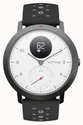 Withings Steel hr sport 40mm esfera blanca correa de silicona negra HWA03B-40WHITE-SPORT-ALL-INTER