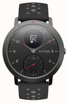 Withings Steel hr sport 40mm esfera negra correa de silicona negra HWA03B-40BLACK-SPORT-ALL-INTER