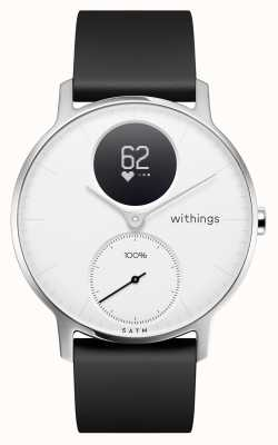 Withings Correa de silicona negra de acero esfera blanca de 36 mm. HWA03B-36WHITE-ALL-INTER