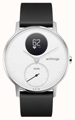 Withings Correa de silicona negra de acero esfera blanca de 36 mm. HWA03-36WHITE-ALL-INTER