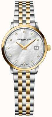 Raymond Weil | mujer tocata diamante | Pulsera de acero inoxidable de dos tonos. 5985-STP-97081