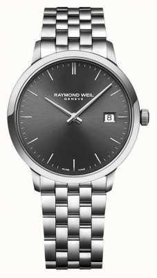 Raymond Weil El | toccata para hombre | pulsera de acero inoxidable | esfera gris | 5485-ST-60001