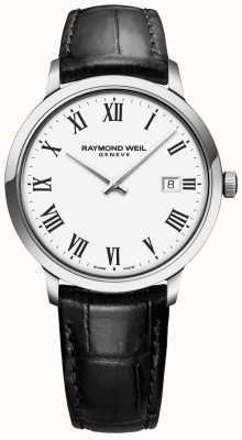 Raymond Weil | toccata para hombre | correa de cuero negro | esfera blanca | 5485-STC-00300