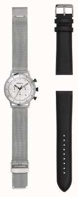 Breil | reloj de malla de acero inoxidable para caballero | correa de cuero extra | TW1806