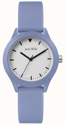 Jack Wills | correa de goma azul damas | esfera blanca | JW008LTBL