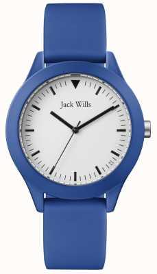 Jack Wills | correa de caucho azul caballeros | esfera blanca | JW009BTBL