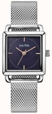 Jack Wills | señoras de malla de acero reloj loring | esfera azul | JW016NVSL