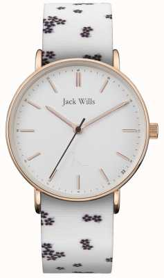Jack Wills | damas sandhill blanco silicio | esfera blanca | JW018FLWH