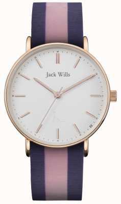 Jack Wills | correa de silicona sandhill twotone para mujer | esfera blanca | JW018PKBL