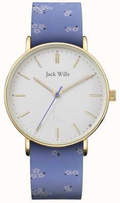 Jack Wills | correa de silicona sandhill blue para mujer | esfera blanca | JW018FLBL