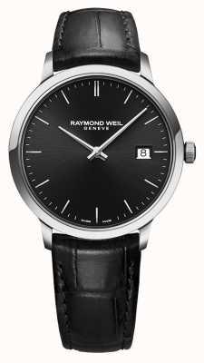 Raymond Weil | cuero negro para hombre toccata | esfera negra | 5485-STC-20001