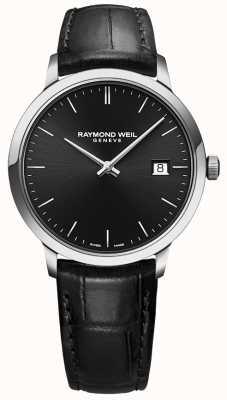 Raymond Weil | toccata hombre cuero negro | esfera negra | 5485-STC-20001