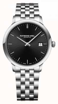 Raymond Weil | brazalete de acero inoxidable para caballero | esfera negra | 5485-ST-20001