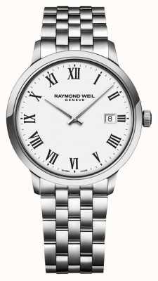 Raymond Weil | pulsera de acero inoxidable toccata para hombre | esfera blanca | 5485-ST-00300