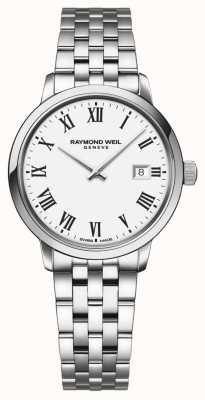 Raymond Weil | pulsera de acero inoxidable toccata para mujer | esfera blanca | 5985-ST-00300