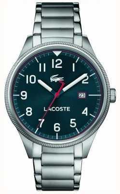 Lacoste El | mens continental | pulsera de acero inoxidable | esfera azul | 2011022