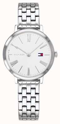 Tommy Hilfiger | pulsera de acero inoxidable para mujer | esfera blanca | 1782056