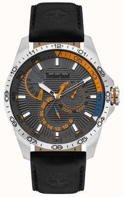 Timberland | reloj oakham para hombre | correa de cuero negro | esfera gris | 15641JS/13