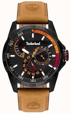 Timberland El | reloj para hombre oakham | correa de cuero marrón | esfera negra | 15641JSB/02
