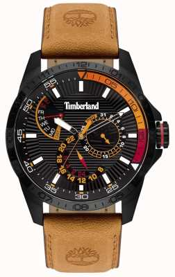 Timberland | reloj oakham para hombre | correa de cuero color canela | esfera negra | 15641JSB/02