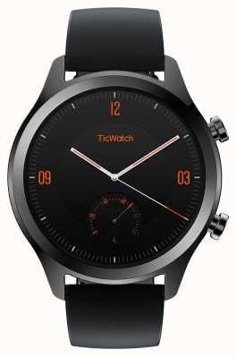 TicWatch C2 reloj inteligente onyx | correa de cuero negro 130688-WG12036-ONYX