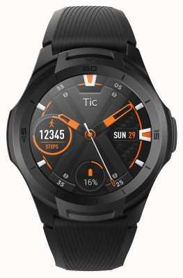 TicWatch S2 reloj inteligente de medianoche | correa de silicona negra 131585-WG12016-BLK