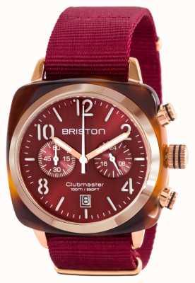 Briston Clásico clubman acetato dorado rojo nato correa 15140.PRA.T.8.NBDX