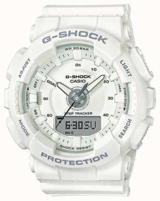 Casio | resina para mujer g-shock | correa blanca | GMA-S130-7AER