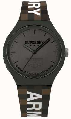 Superdry | mens urban xl | correa de silicona bicolor | gris bronce SYG251E