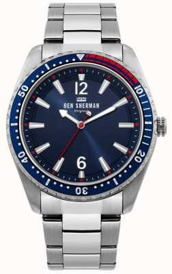 Ben Sherman | reloj ronnie para hombre | esfera azul sunray | WB037USM