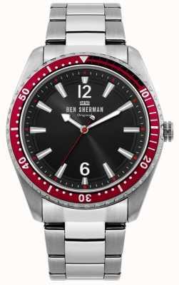 Ben Sherman | reloj ronnie para hombre | esfera de rayos de sol negro | WB037ESM