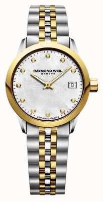 Raymond Weil Freelancer para mujer en dos tonos de acero inoxidable. 5626-STP-97081