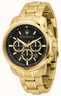 Maserati Reloj Successo para hombre chapado en oro R8873621013